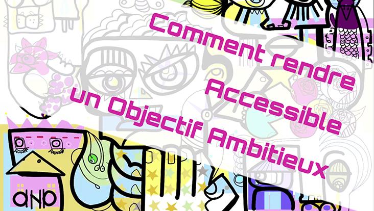 Comment peut-on rendre Accessible un Objectif Ambitieux en utilisant un outil simple et un protocole créatif ludique pour créer une œuvre d'art à distance lors d'un webinaire aNa artiste team building télétravail