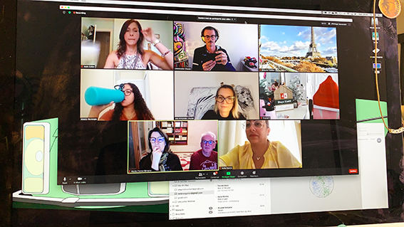 Orlando's Global Webinar inviting the TrueSpace Guests from Florida, Puerto Rico and France all together online in the same time