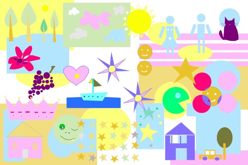 aNa artist create a digital backdrop she uses for her mural artwork