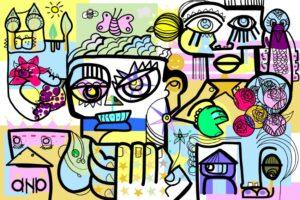 ana artist create Wonderfull Digital Drawing Artwork with her numeric technology online webinar games