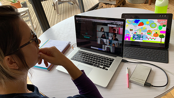 aNa artiste imagine Artworks during Virtual artistic world wide Team Building