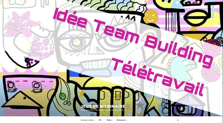 Idée Team Building en Télétravail site internet et méthode aNa artiste pour événementiel en distanciel
