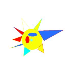 Le dessin de Clara pour la Fresque collective SERL Groupe Exercice Cohésion en Télétravail à distance avec aNa artiste pour webinar games