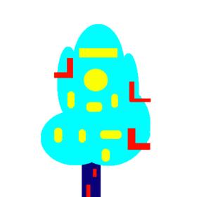 L arbre bâtiment de Guzel