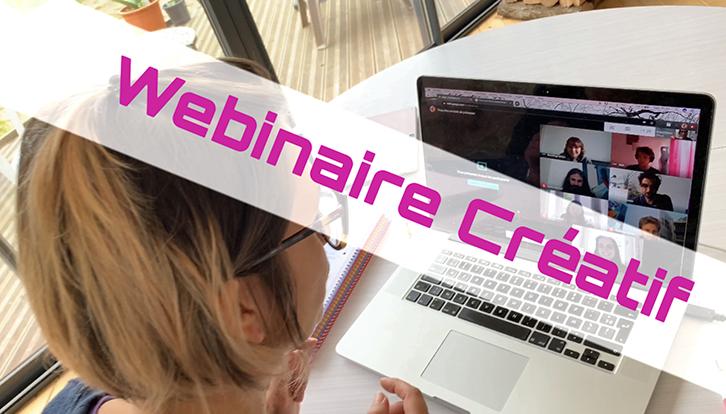 Webinaire Créatif Live par aNa artiste pour création d'un œuvre d'art commune digitale en ligne et en direct via la plateforme collaborative webinar.games