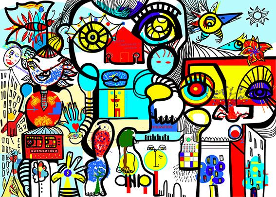 Idée Animation Digitale Team Building Virtuel Fresque en Télétravail à Lyon et dans la France par aNa artiste pour webinar.games