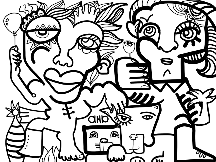 Virtual Happy Hour Remote Event Artwork