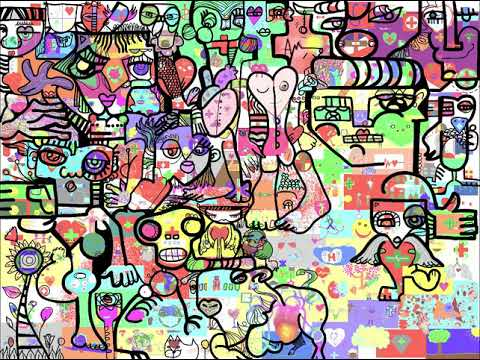 Global Digital Mural – Virtual Mural Time Lapse – 225 Medical Student Remote Integration Day – aNa artist Online Software – World Wide Artwork protocole.