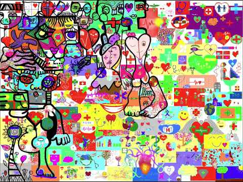Œuvre Collective Animation à Distance – Time Lapse Souvenir - Œuvre collective Animation Intégration à distance – Université Lyon 1 « Faire œuvre en PASS » - Sujet « la Santé » - Fresque Digitale Interactive aNa artiste x Webinar.games.